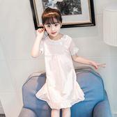新年鉅惠 女童睡裙純棉夏季兒童睡衣公主寶寶短袖親子母女小女孩薄款家居服