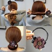 丸子頭水?花朵盤發器韓國發帶頭飾造型器百變蓬鬆花苞頭扎頭髮飾