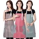 可擦手圍裙家用廚房防水防油做飯大人罩衣圍兜女夏天大碼時尚圍腰