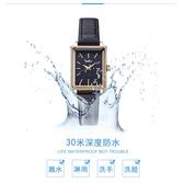 女士手錶時尚複古手錶女學生小 簡約方形防水複古皮帶ins
