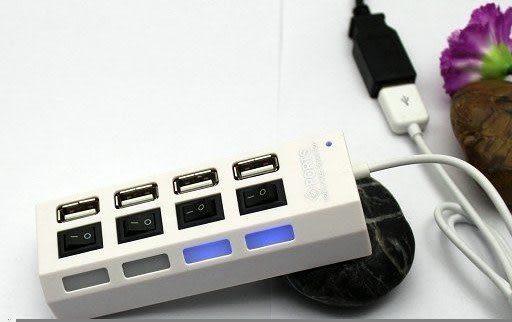 【強尼 3c】4口HUB擴展 usb2.0 4口USB HUB 1拖4 / 1分4獨立開關帶燈集線器帶電源燈