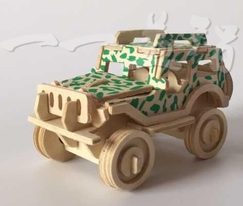 【協貿國際】diy親子拼裝越野小吉普車玩具(6入)