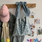 牛仔包 日系牛仔包女大學生百搭帆布包上課包女大容量側背斜背包寶貝計畫 上新