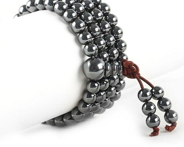 [協貿國際]天然鐵石108顆佛珠手鍊單條價