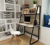 電腦桌台式桌子簡約現代辦公桌家用書桌書架組合簡易筆記本寫字桌 YDL
