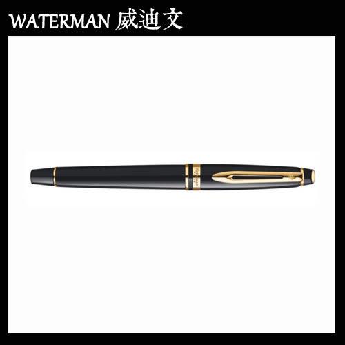【MY】 WATERMAN EXPERT 權威系列 黑桿金夾 鋼筆 F W0951640