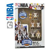 21543【C3 TOYS】超可動積木人偶 NBA系列 明星球員 東區 (5入套組)