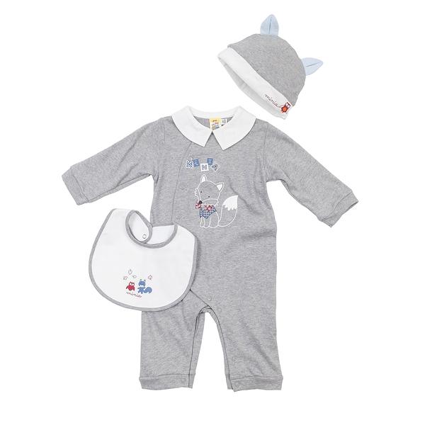 【愛的世界】娃娃領衣連褲禮盒/6M~1歲-台灣製- ---禮盒推薦