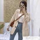 西裝外套 網紅黑色小西服女2019春季新款韓版chic百搭寬鬆兩粒扣西裝外套潮  韓慕精品