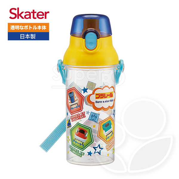 Skater 直飲透明水壺(480ml)-鐵道王國RAIL【佳兒園婦幼館】