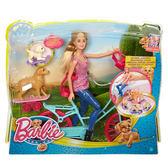 Barbie 芭比娃娃 單車芭比與狗狗兜風組 美泰兒正貨 麗翔親子館