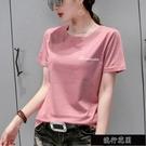 純棉t恤女短袖2021新款夏裝韓版寬鬆大碼白色百搭半袖體恤上【全館免運】