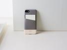 alto iPhone SE2/7/8 通用款 真皮手機殼背蓋 4.7吋 Metro - 礫石灰/本色 【可加購客製雷雕】皮革保護套