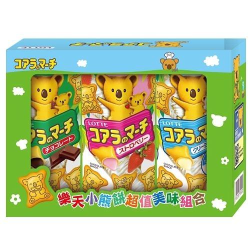LOTTE小熊餅超值美味組合 3入【愛買】