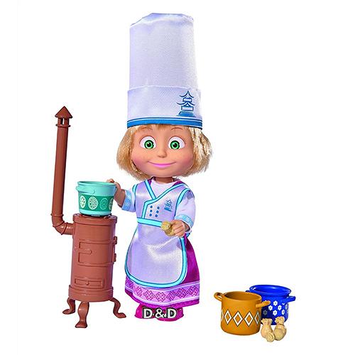 《 瑪莎與熊 mashabear 》瑪莎小廚師 ╭★ JOYBUS玩具百貨