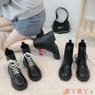 馬丁靴 馬丁靴女2021年新款秋冬季英倫風短靴女瘦瘦靴增高冬炸街靴子 愛丫 新品
