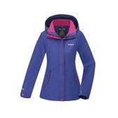 【買就送!2用後背包】[ATUNAS] 歐都納 (女) 樂遊休閒2L GTX+羽絨二件式外套 紫藍 (A-G1812W-A)