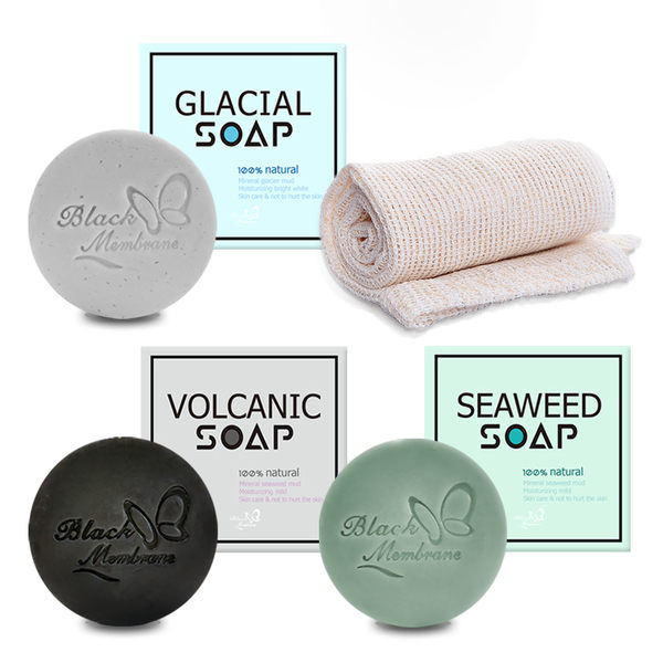 【Realwoman】冰火海泥皂 100g×1顆+送去角質洗澡巾×2條