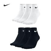 (特價) Nike 短襪 SX4703-001 (三雙一組) 厚款毛巾底 3PAK LIGHTWEIGHT QUARTER