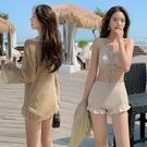 泳衣女三件套2020年新款遮肚顯瘦保守學生溫泉小胸韓國INS小香風