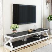 鋼化玻璃電視櫃簡約現代迷你客廳儲物櫃簡易小戶型電視櫃茶幾組合【全館免運】JY