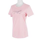 Mizuno [32TA170166] 女 短袖t恤 運動 休閒 吸濕 排汗 抗UV 咖啡紗 美津濃 粉紅