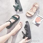 涼鞋女仙女風2020夏季新款學生百搭ins潮網紅百搭韓版舒適平底鞋