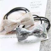 [24hr-快速出貨]   迷你布藝格子髮飾蝴蝶結 扎頭髮 皮筋 髮束 髮圈 髮繩 飾品 韓國 隨機出貨