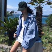 女裝防曬襯衫中長款長袖休閒襯衣上衣外套潮