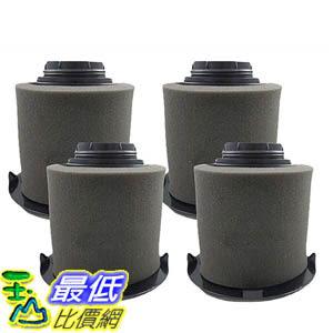 [106美國直購] 4 Dirt Devil F16 Filter Kits w/ HEPA Filter & Foam Pre-filter 1JW1100000, 2JW1000000