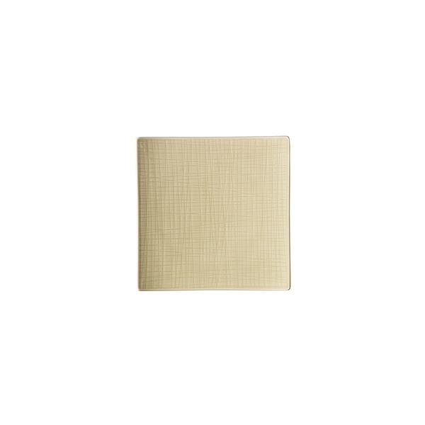 德國 Rosenthal Mesh正方盤22cm-奶油白