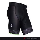 【亞特力士ATLAS】男五分透氣車褲(五代) 30℃~38℃ S-700-G(綠)