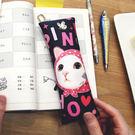 JETOY, 甜蜜貓 Q版 筆袋_Pink hood