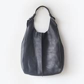 肩背包-真皮純色簡約休閒子母女手提包-4色73nf6[巴黎精品]