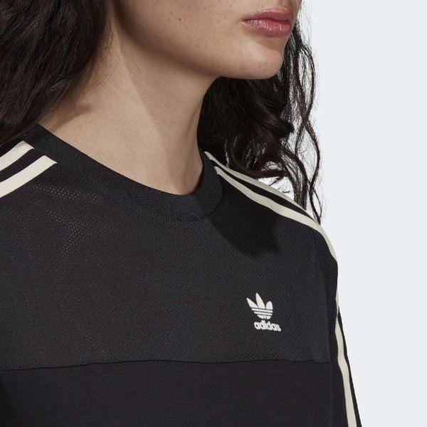 adidas 連身裙 Originals Tee Dress 女款 黑 白 三條線 裙子 【PUMP306】 DU9944