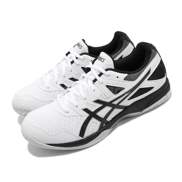 Asics 排球鞋 Gel-Task 2 白 黑 男鞋 室內 排球 運動鞋 【ACS】 1071A037103