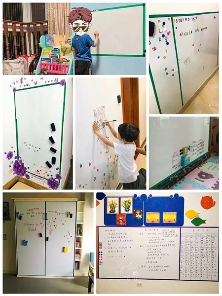軟白板墻貼黑板磁性 一木良品