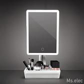Ms.elec米嬉樂 LED美肌收納化妝鏡LM-007 桌上鏡 補光鏡 柔和燈光