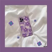 清新紫色花朵適用iPhone11蘋果12pro max手機殼防摔軟硅膠保護套【愛物及屋】