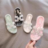 兒童拖鞋 女童拖鞋2020夏新品時尚韓版兒童外穿珍珠公主鞋中大童洋氣涼拖鞋 萬聖節全館免運