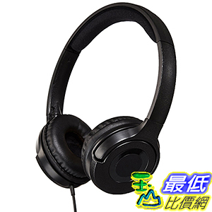 [106美國直購] 耳機 AmazonBasics Lightweight B00NBEWB4U On-Ear Headphones - Black