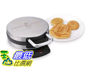 [美國直購] Disney DCM-1 米奇 米老鼠造型鬆餅機 Classic Mickey Waffle Maker, Brushed Stainless Steel