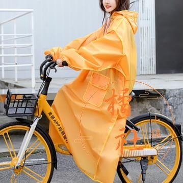 全身騎行雨披長款加厚全身防水【橘社小鎮】
