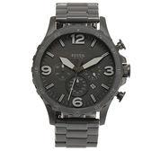 FOSSIL 消光黑三眼計時大錶盤男腕錶50mm(JR1401)270543