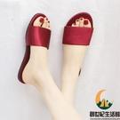 紅色拖鞋女士家用居家夏季時尚外穿涼拖【創世紀生活館】