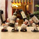 創意紅酒架擺件 樹脂工藝酒架 酒櫃葡萄酒架