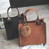 雙12狂歡購 女包包2018新款韓版時尚復古百搭休閒托特包手提包單肩斜挎包小包