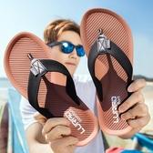 促銷全場九折 男士人字拖鞋 夏季防滑厚底涼拖戶外休閑夾拖沙灘鞋歐美潮