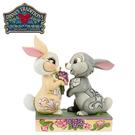 【正版授權】Enesco 桑普 邦尼 送花塑像 公仔 精品雕塑 小鹿斑比 迪士尼 Disney - 219285