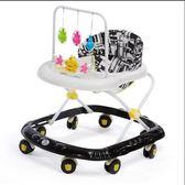 嬰兒童寶寶學步車多功能防側翻6/7-18個月手推可坐可折疊學助步車QM 良品鋪子